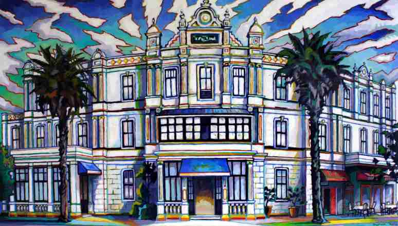 The Esplanade Hotel_Devonport oil on canvas 1500mm x 860mm $4800