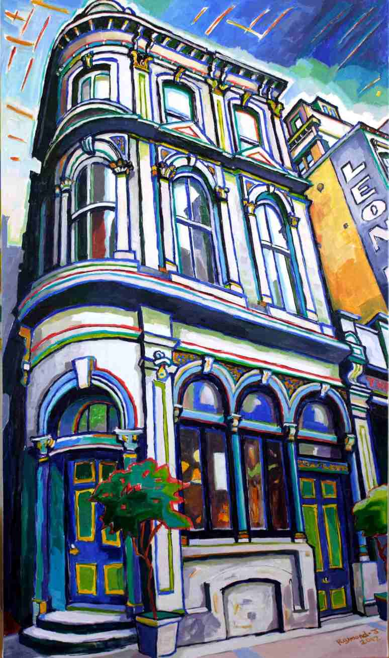 The Occidental Hotel, Vulcan Lane, Auckland oil on canvas540mm x 930mm$1800