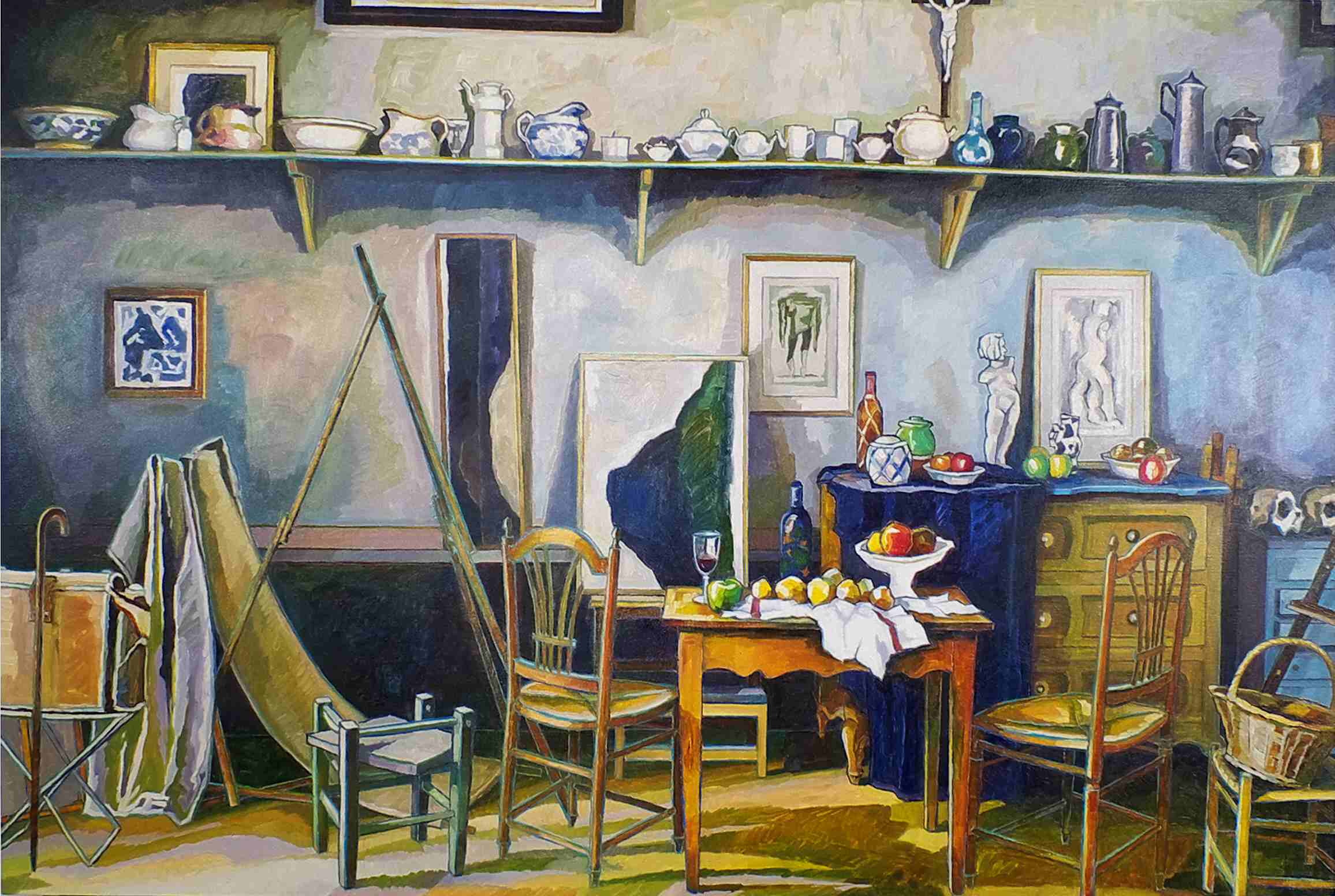 studio of paul cezanne aix en provence south of france 1890 s raymond jennings artist. Black Bedroom Furniture Sets. Home Design Ideas