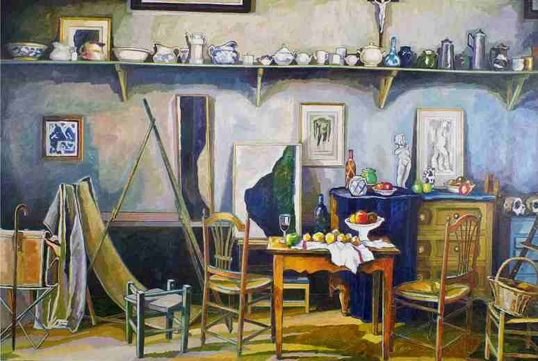 Studio of Paul Cezanne, Aix en Provence in the South of France, 1890's