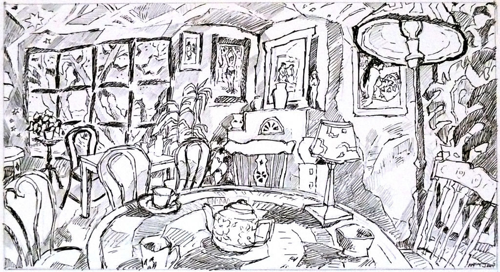 Gauguin Room_preliminary drawing