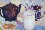 New Zealand Breakfast Table 1953 600 x 400 mm oils on board $450