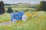 Retro Tractor Northland 600 x 400 mm oils on board $450