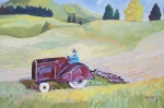 Vintage Tractor Northland 600 x 400 mm oils on board $450