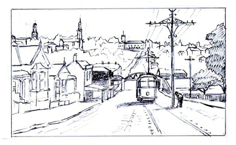 Historic Parnell – 1920s (Constitution Hill) sketch