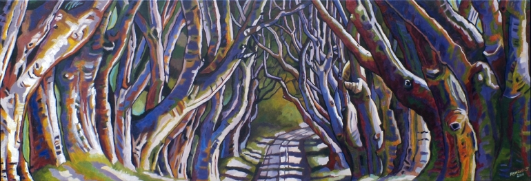 Phantasmal Tress - 500 x 1500mm - oils on canvas